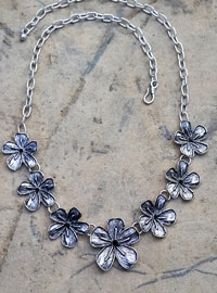 Silver tone - Necklace - Artbutika