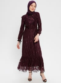 Plum - Crew neck - Fully Lined - Dress