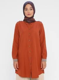 Cinnamon - Point Collar - Cotton - Tunic