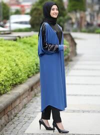 Indigo - Unlined - Crew neck - Abaya