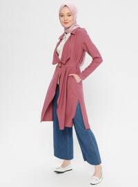 Dusty Rose - Unlined - Shawl Collar - Topcoat
