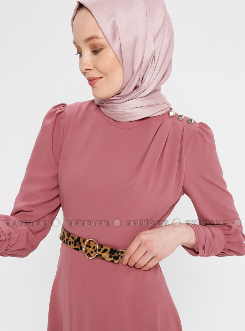 Dusty Rose - Polo neck - Unlined - Dress