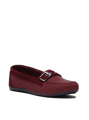 Maroon - Flat - Flat Shoes - Y-London
