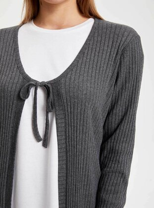 Anthracite - Girls` Cardigan