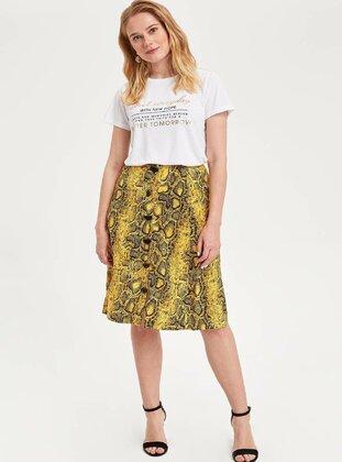 Yellow - Girls` Skirt - DeFacto