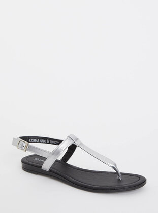 Gray - Girls` Sandals - DeFacto