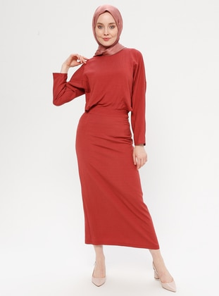 Coral - Crew neck - Fully Lined - Dress