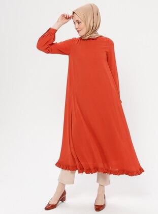 f2cbaf9f61cf4 Turuncu Tesettür Elbise Modelleri ve Fiyatları - Modanisa.com