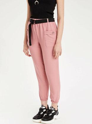 Pink - Girls` Pants - DeFacto