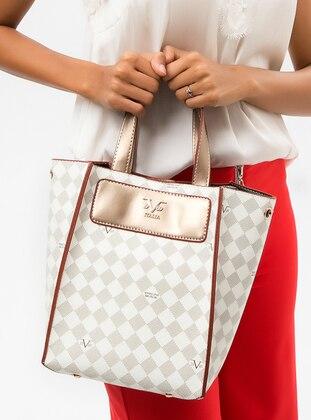 White - Gold - Clutch Bags / Handbags