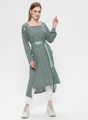 Green Almond - Sweatheart Neckline - Tunic