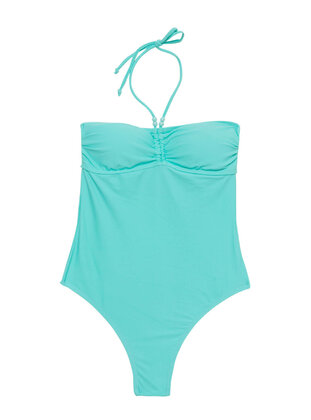 Turquoise - Girls` Swimsuit