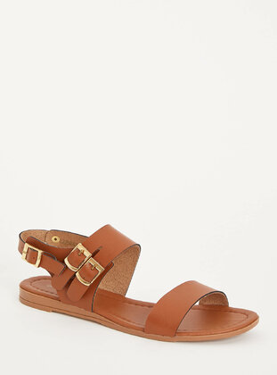Brown - Girls` Sandals - DeFacto