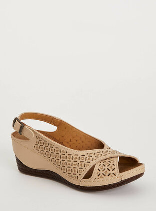 Beige - Girls` Sandals