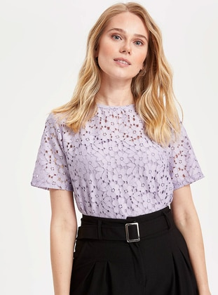 Purple - Boys` T-Shirt