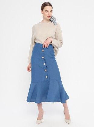 Indigo - Unlined - Viscose - Skirt