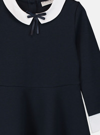 Navy Blue - Girls` Dress