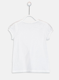 Crew neck - White - Girls` T-Shirt