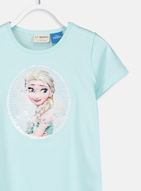 Crew neck - Turquoise - Girls` T-Shirt