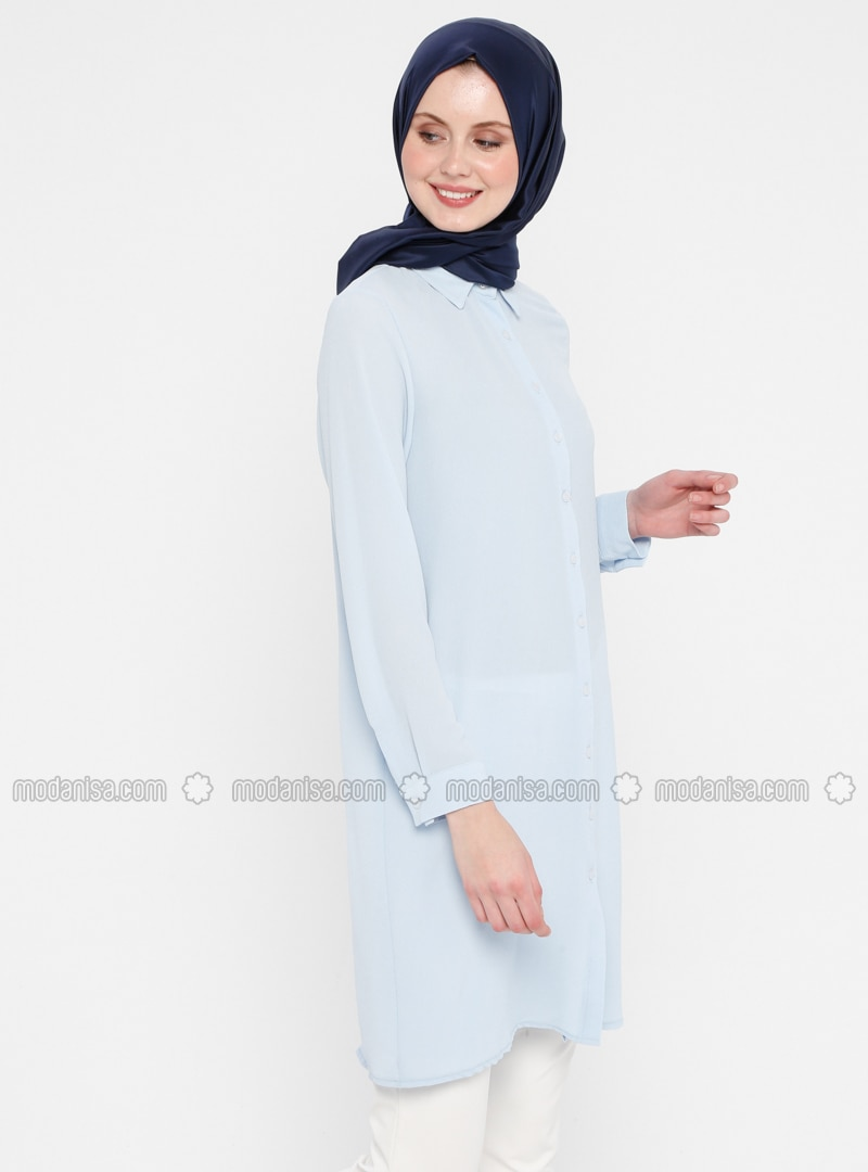Blue - Point Collar - Tunic