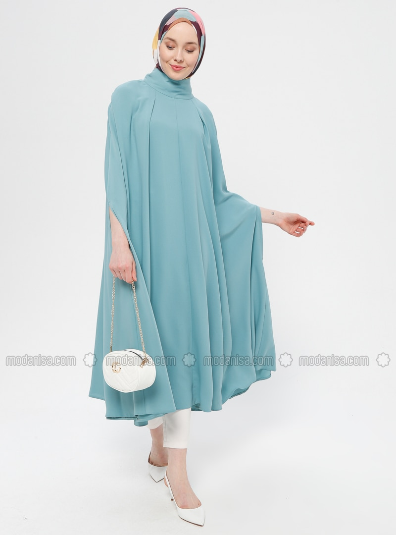 Green Almond - Polo neck - Unlined - Poncho