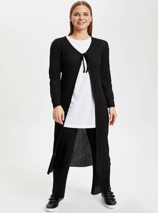 Black - Girls` Cardigan - DeFacto