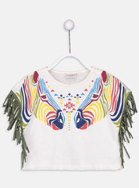Crew neck - Ecru - Girls` T-Shirt