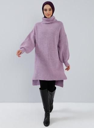 Lilac - Polo neck - Acrylic -  - Tunic
