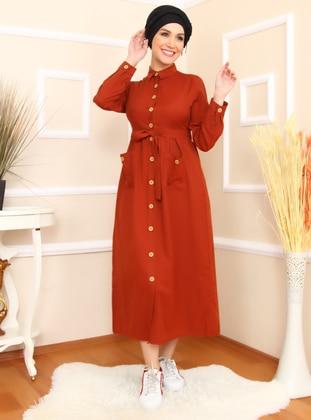 33dfac7474e2e Kırmızı Tesettür Elbise Modelleri ve Fiyatları - Modanisa.com