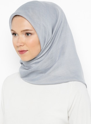 White - Ecru - Gray - Plain - Viscose - Scarf