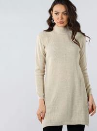 Mink - Polo neck - Cotton - Tunic