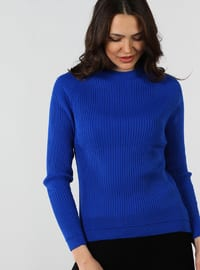 Saxe - Crew neck - Cotton - Jumper
