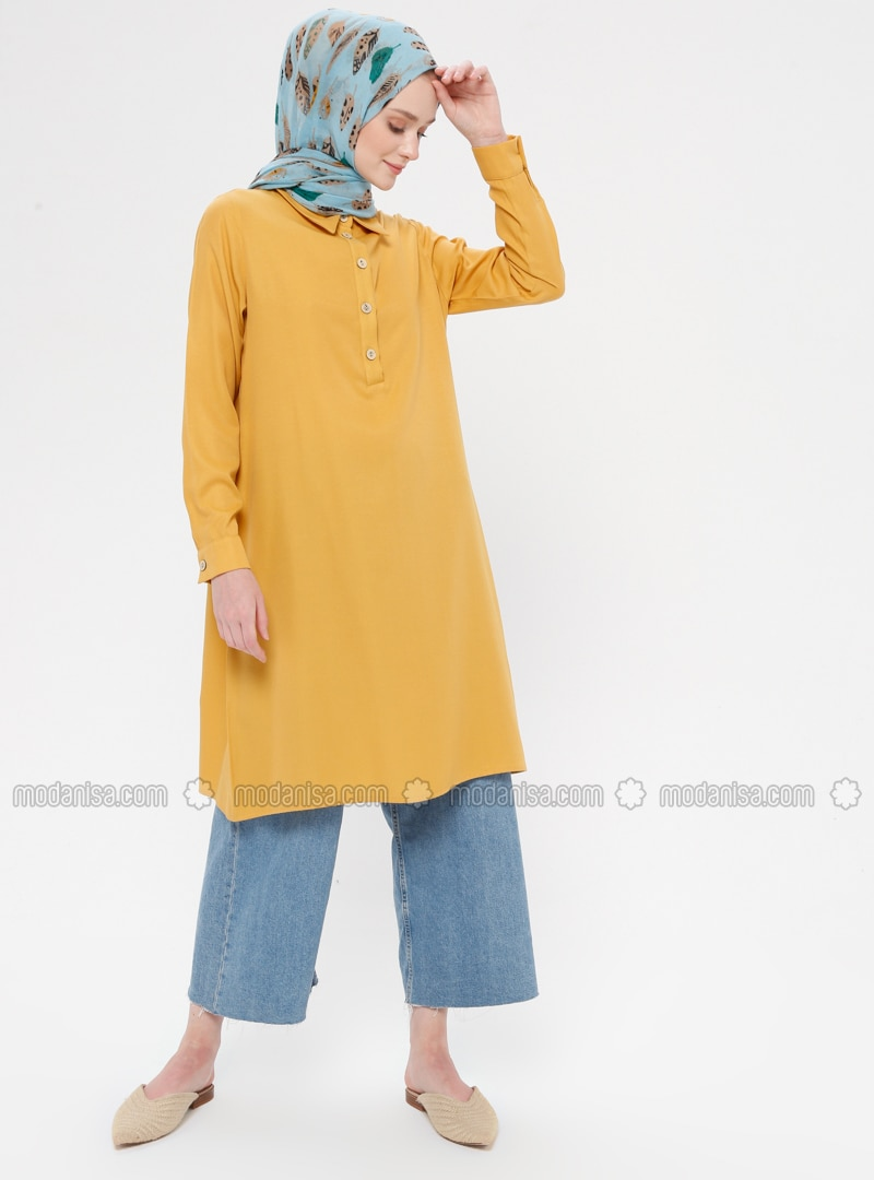 Yellow - Point Collar - Tunic