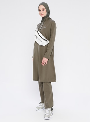 Khaki - Cotton - Tracksuit Set