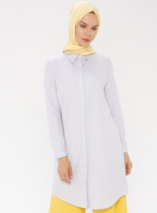 Lilac - Point Collar - Cotton - Tunic
