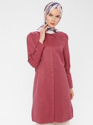 Dusty Rose - Point Collar - Cotton - Tunic