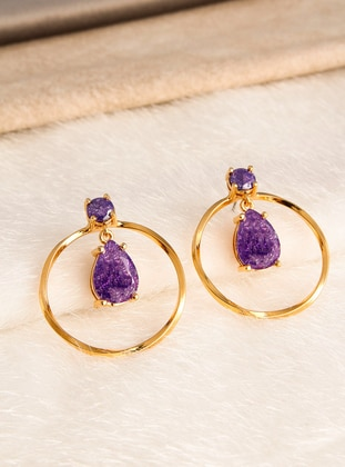 Purple - Earring