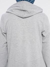 Gray - Cotton - Tracksuit Set