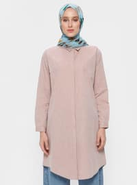 Dusty Rose - Point Collar - Cotton - Tunic