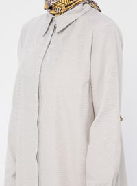 Mink - Point Collar - Cotton - Tunic