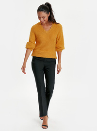 V neck Collar - Yellow - Jumper