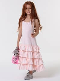 Crew neck - Pink - Girls` Dress