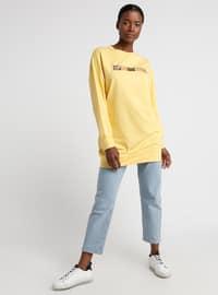 Yellow - Crew neck - Tunic