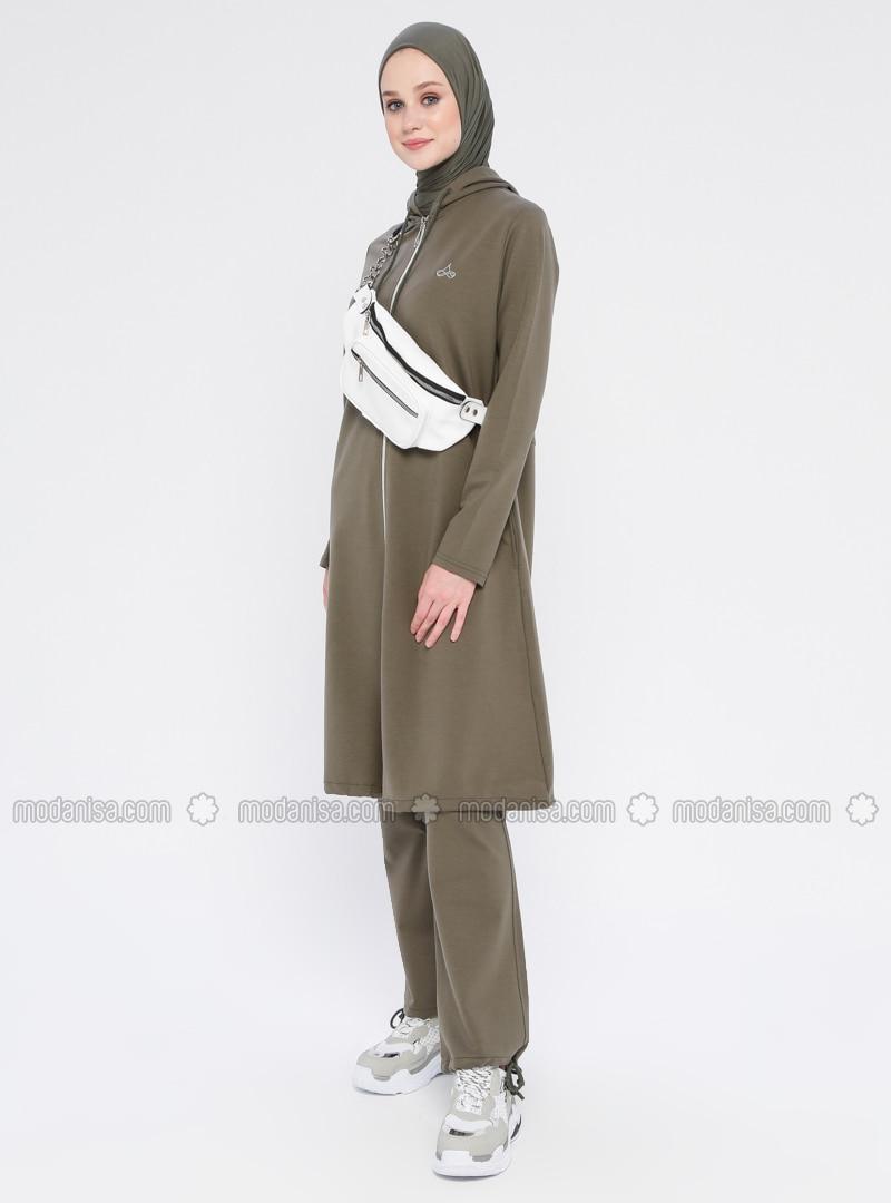 Khaki - Cotton - Tracksuit Set