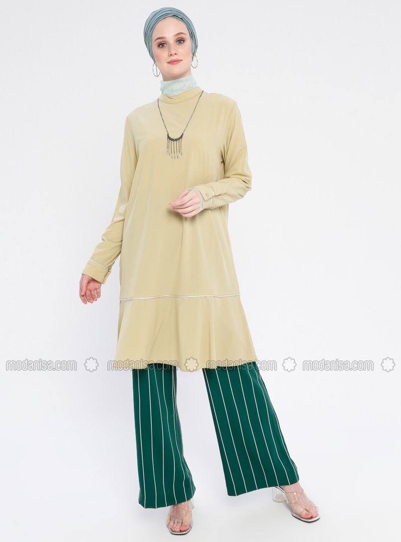 Green - Polo neck - Tunic