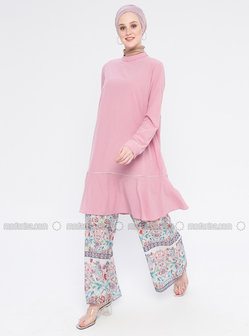 Pink - Polo neck - Tunic