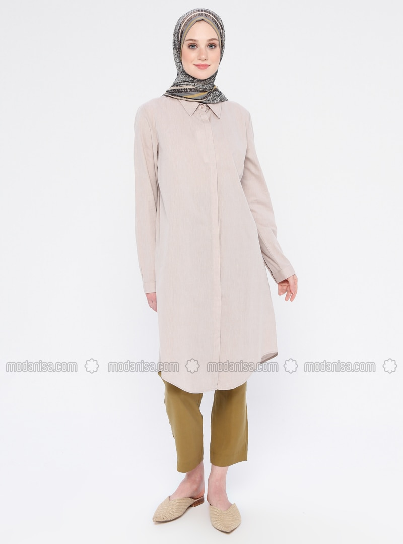 Mink - Point Collar - Cotton - Tunic