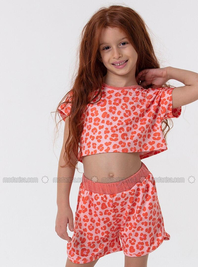 Multi - Salmon - Girls` Shorts