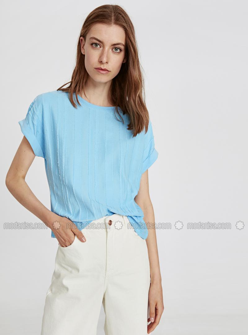 Crew neck - Blue - T-Shirt