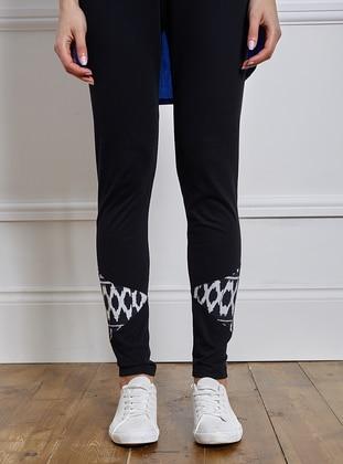 Pants - Black-White